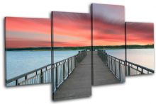 Lake Jetty Pier Sunset Seascape - 13-1537(00B)-MP04-LO